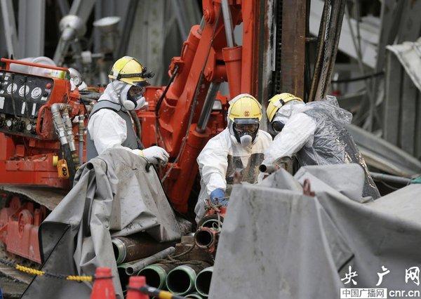 日本福岛核电站建冰墙堵住核泄漏