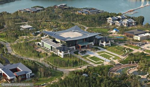 北京怀柔雁栖湖湖心岛apec峰会国际会议中心.