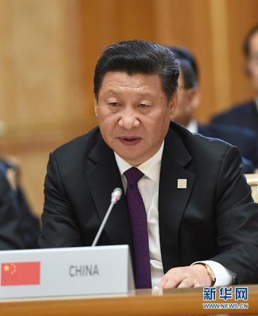 7月9日,金砖国家领导人第七次会晤在俄罗斯乌法举行.中国国家主席图片