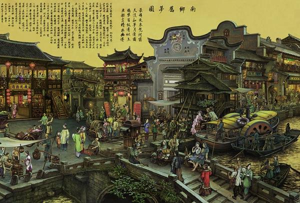 南�zd�9����+�.�9.b:gh���_张孝友作品展现界画精品《南乡旧梦》