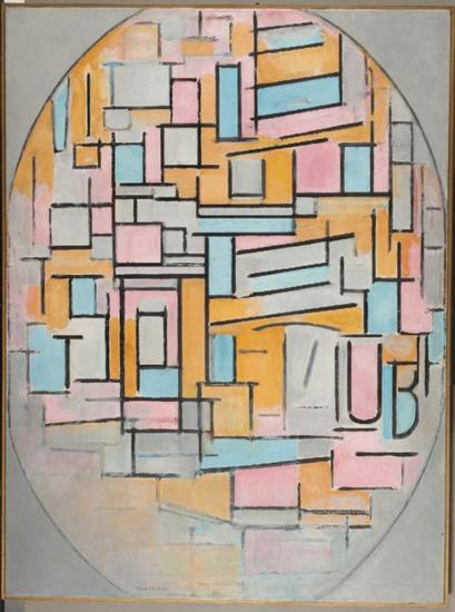 蒙德里安在钟爱画格子之前画了些什么图片