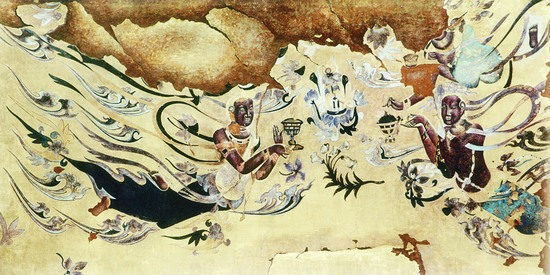 一幅幅纤维编织的飞天,佛像等敦煌壁画,尽显艺术另类之美