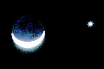 6日晨上演金星合月 似恋人私语