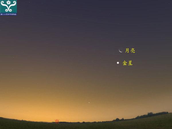 6日晨天宇将上演金星合月 金星亮度达-4等