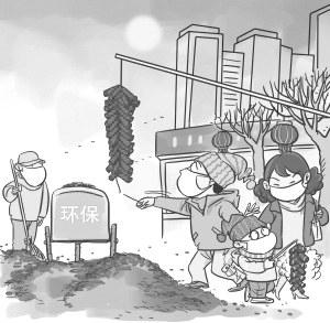 污染环境手绘图