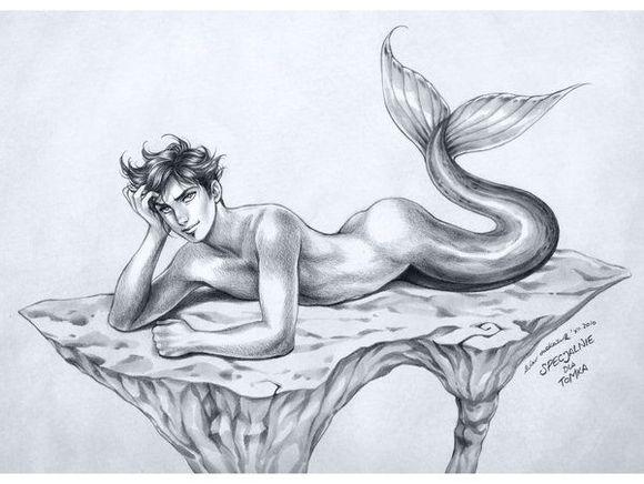历史上确有男性美人鱼传说 多有丑陋不堪者图片