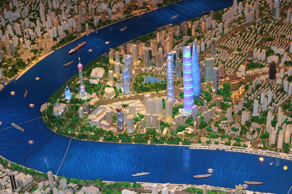 上海城市规划展览馆一瞥