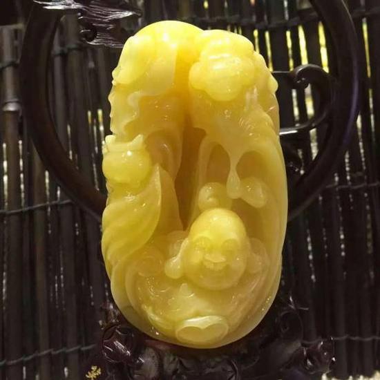 蜜蜡牡丹雕刻步骤图解