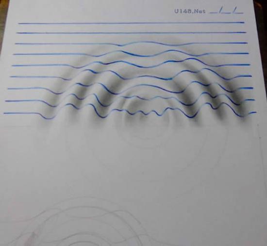 15岁少年画出一组惊人3d素描立体画