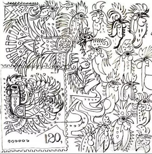美林设计的生肖邮票鸡票已出炉