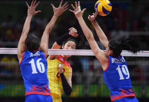 中国队获得里约奥运会女子排球金牌