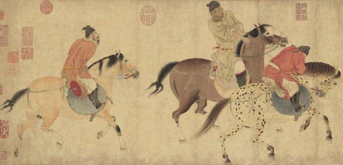 北京保利2016年秋拍将于11月8日、9日来上海大剧院望星空宴会厅预展,其中一件元代水利官员、上海人任仁发的名画《五王醉归图卷》颇有故事,这件名作曾被清宣统皇帝溥仪偷偷运出宫,以致后来流落海外60多年。如今,《五王醉归图卷》这件与上海有关的国宝将于12月1日至3日在北京农业展览馆举办的保利秋拍上决定花落谁家。   刻画唐玄宗五兄弟故事 《五王醉归图卷》用的是宋代纸本,高35.