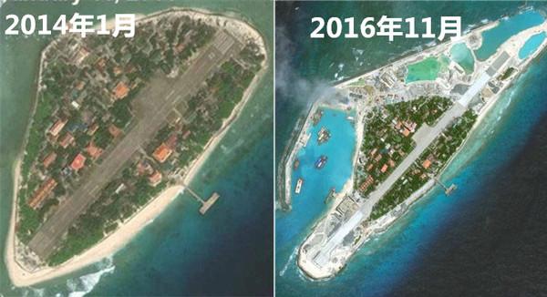 越南在所侵占中国南海岛屿扩建跑道