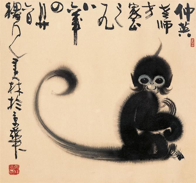 古代诗画印花图案