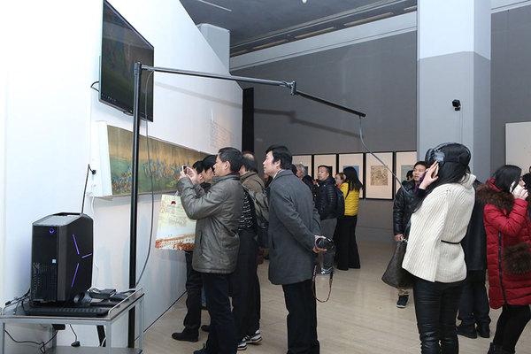 VR又即兴宋代名干《仟里江地脊图》-展览即兴场