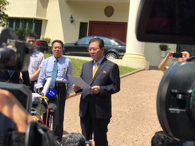 朝鲜驻马大使再发声明 指责马方行为不公正