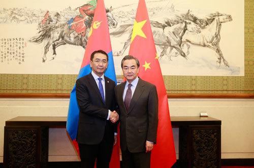 蒙古外长:坚定奉行一个中国政策 西藏问题属中国内政
