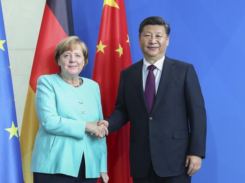 总理默克尔举行会谈 两国领导人同意推动中德关系百尺竿头更进一步图片