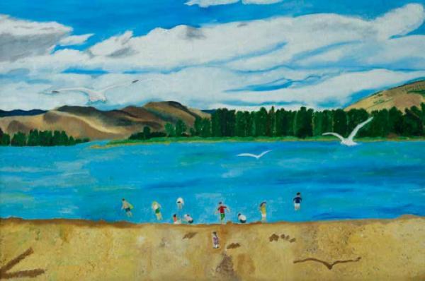 李伟(女) 《有岛的风景》 81cm×53cm 2010年_nEO_IMG.jpg