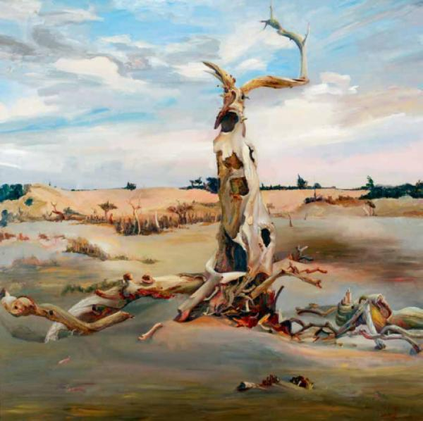 乌日娜 《胡杨神树》 160cm×160cm 2012年_nEO_IMG.jpg