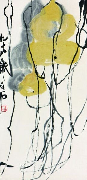 齐白石画《葫芦》