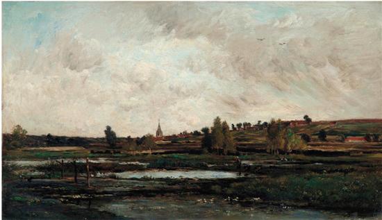 而确立了风景画作为独立绘画体裁的重要地位.