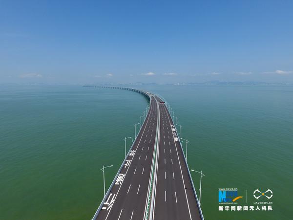 飞在伶仃洋上 港珠澳大桥开通仪式侧记