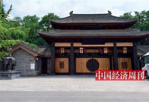 9月11日,别墅项目西安别墅(一期)的一扇大门.重庆院子二手房图片