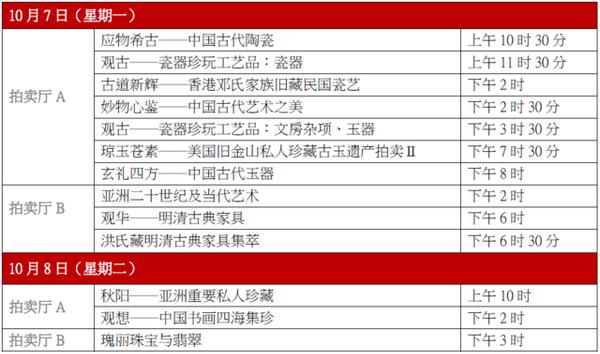 中国嘉德香港2019秋拍将至 1800件珍品精彩呈现