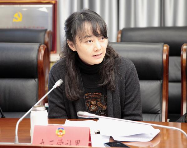 九三学社东城区委专职副主委兼秘书长崔媛媛在会上发言