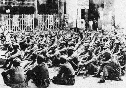 抗战初期,集中在皖南的新四军部队。