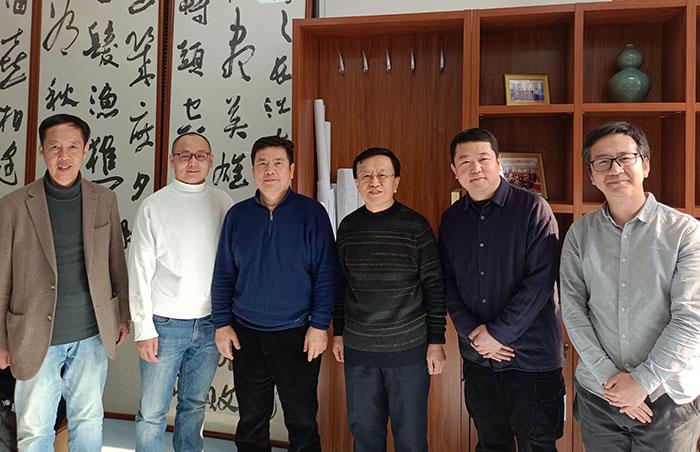 中华职业教育社一行到视觉工业基地考察调研
