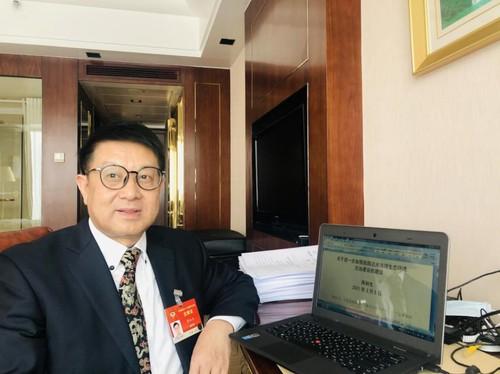 蒋和生委员  陈彩虹 摄