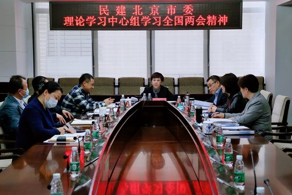 民建北京市委理论学习中心组学习全国两会精神