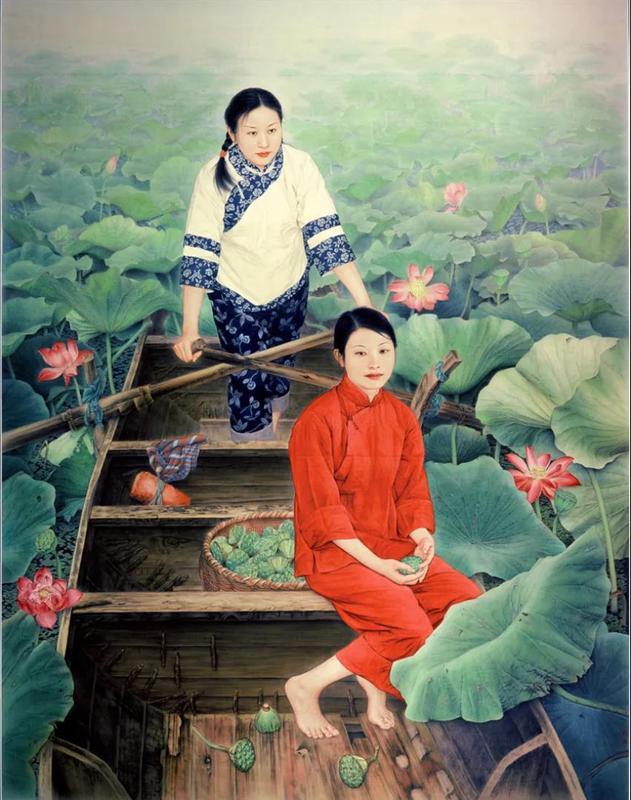 《红莲》245cm×189cm入选第四届北京国际双年展11