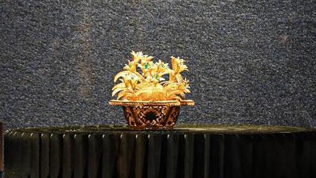 国家级非遗花丝镶嵌艺术展海口开展