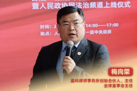 """梅向荣:盈科""""全球一小时法律服务圈"""""""