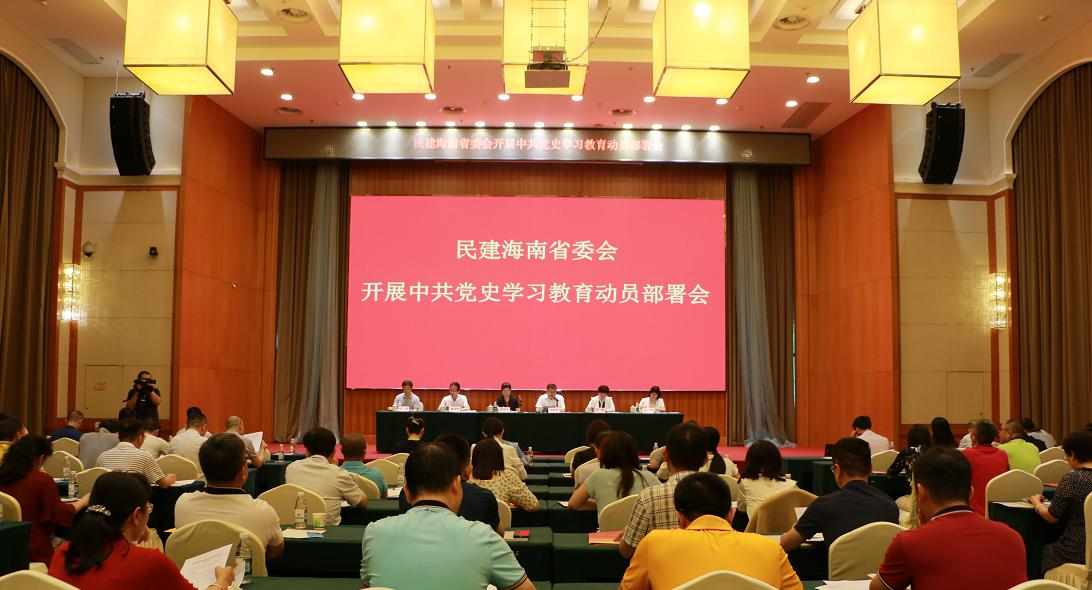 民建海南省委会召开中共党史学习教育动员部署会