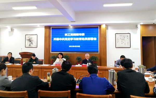 农工党铜陵市委会召开中共党史学习教育动员部署会