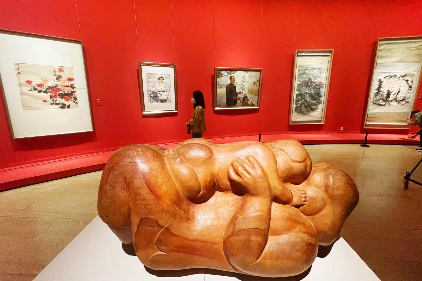 """""""美美与共——庆祝中国民主同盟成立80周年盟员美术作品展""""在京展出"""