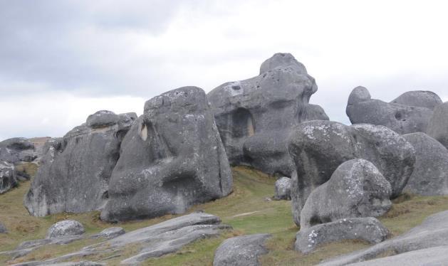 新西兰城堡山巨石奇观