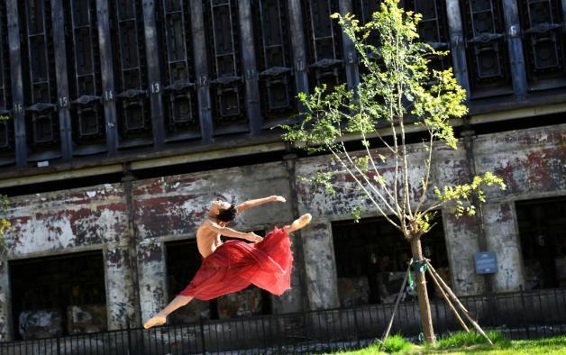 北京首钢园上演环境舞蹈秀